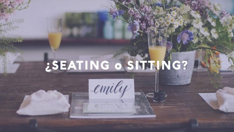¿SEATING o SITTING?